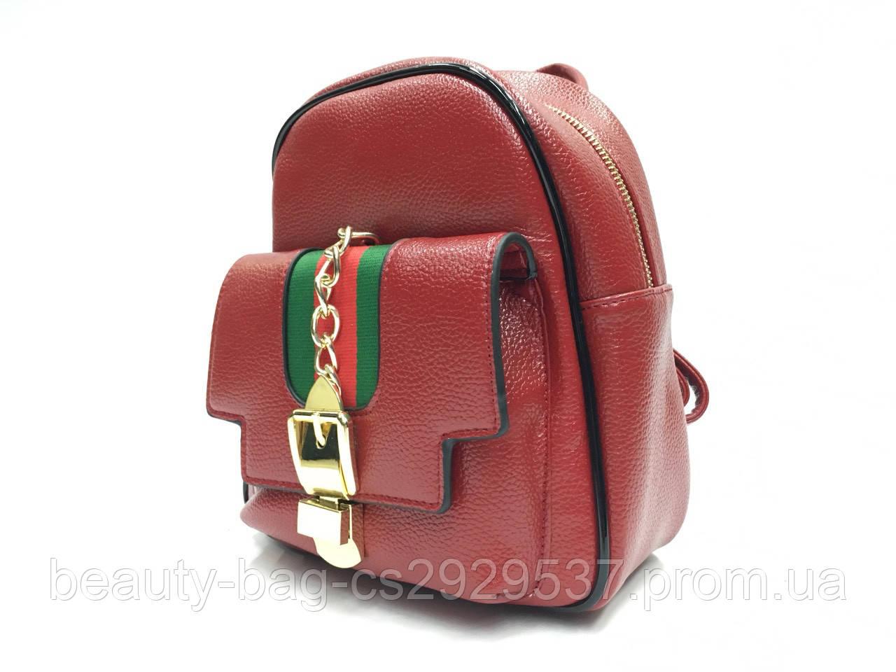Рюкзак молодежный 2939 Италия Red красный