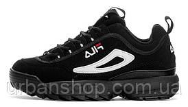 """Чоловічі кросівки, obuwie męskie Fila Disruptor II """"Black/Black""""."""