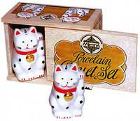 CAT CRUET SET Фарфоровый набор Два Кота