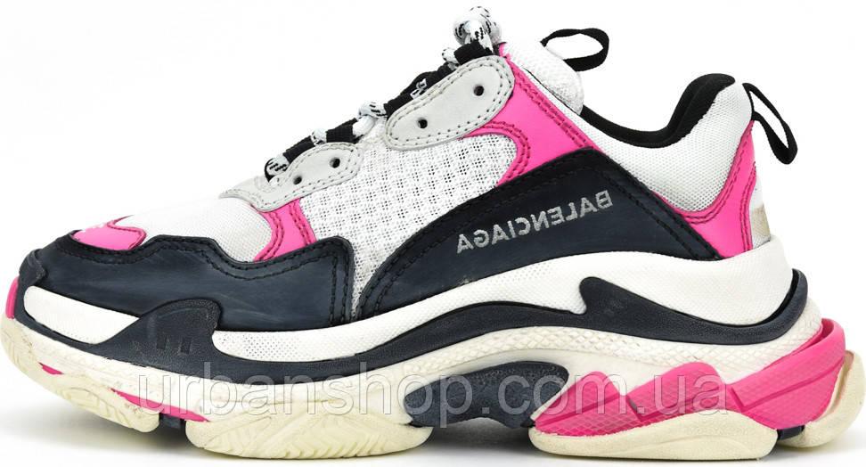Кросівки жіночі, obuwie damskie Balenciaga Triple S Sneaker Pink Black.