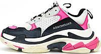 Кросівки жіночі, obuwie damskie Balenciaga Triple S Sneaker Pink Black., фото 1