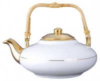 ROUND TEA POT 400ml Фарфоровый Чайник Круглый полузолотой