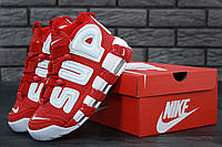 Кросівки жіночі, obuwie damskie Nike Air More Uptempo  Red/White.