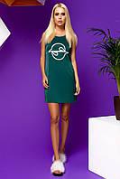 Легкое Короткое Платье из Шелка с Карманами Изумрудное S-XL, фото 1