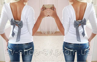 Женская красивая кофта с бантиком на спине