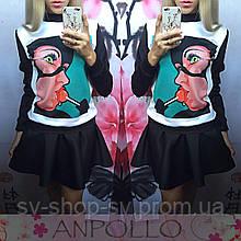 Женский стильный свитшот с рисунком (2 цвета)