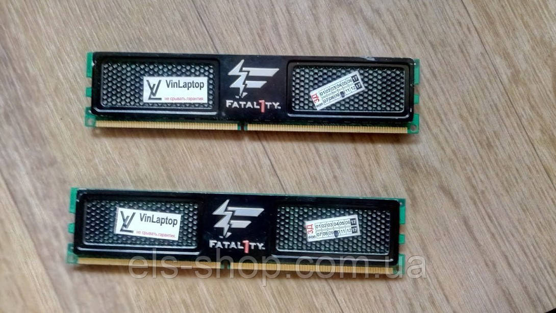 Оперативная память пк DDR2-800 4096MB PC2-6400 XTC fatal1ty edition (б/у)