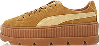 Кросівки жіночі, obuwie damskie пума  Puma Cleated Creeper Rihanna Fenty Golden Brown