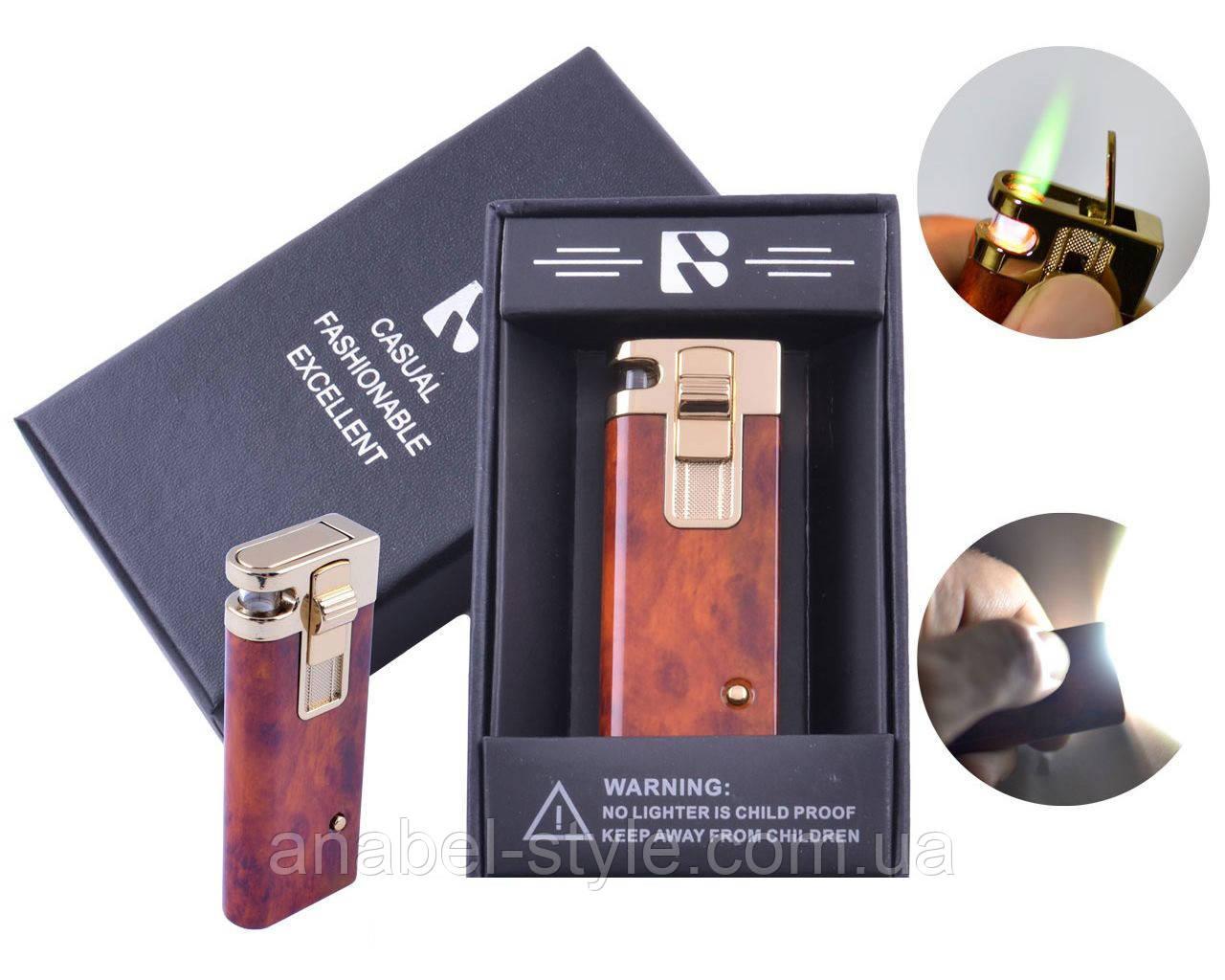 Зажигалка подарочная FANG-FANG (Турбо пламя, Фонарик) №3967-1 Код 117934-1