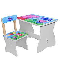Детский столик и стул, peppa pig (504-13)