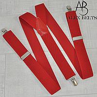 Подтяжка мужская взрослая (красная) 35 мм-купить оптом в Одессе