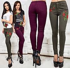 Женские модные джинсы с вышивкой (3 цвета)