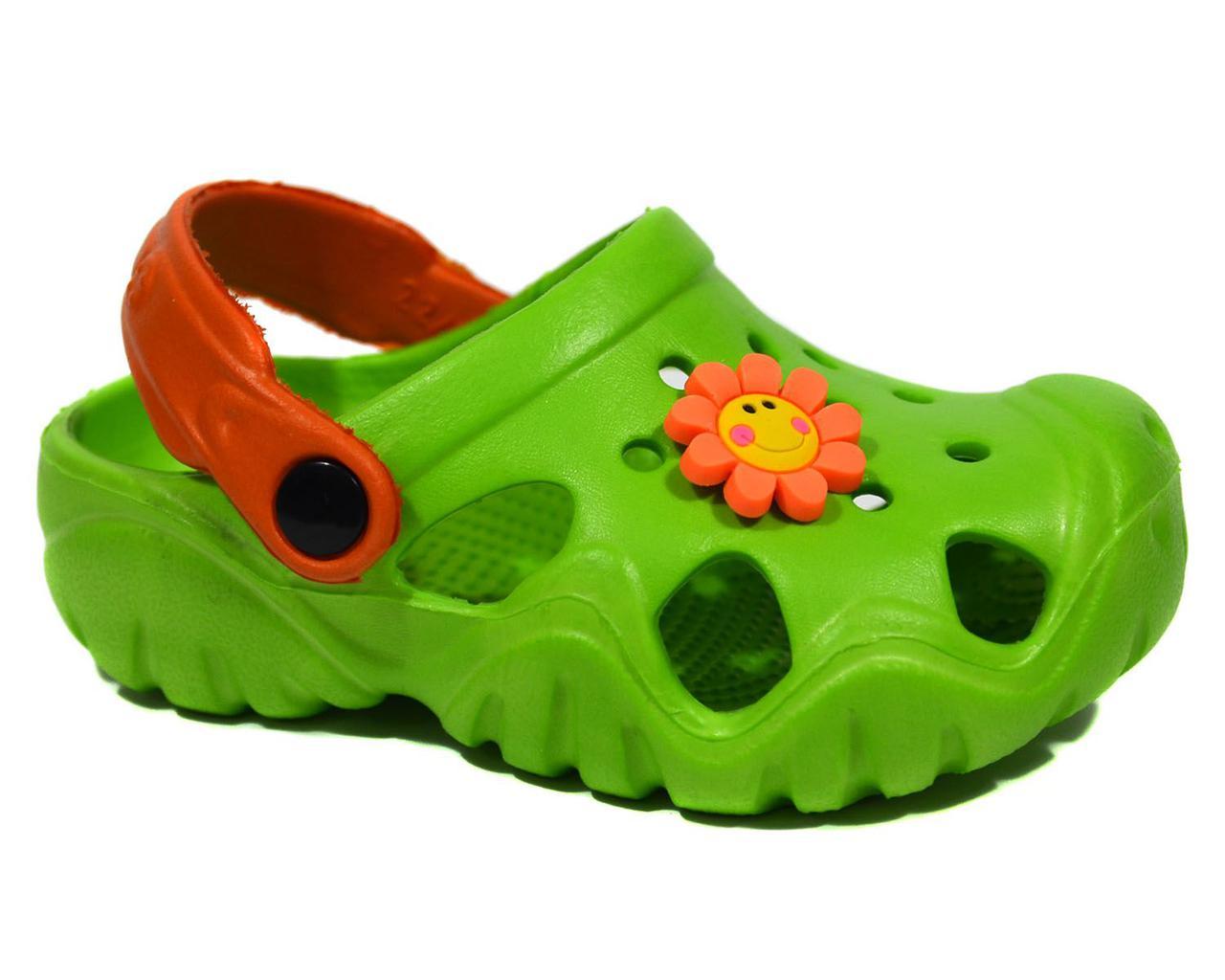 Кроксы Jose Amorales green, Цветок