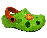 Кроксы Jose Amorales green, Цветок, фото 1