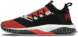 Кросівки чоловічі, obuwie męskie пума  Puma Tsugi Jun Cubism Black/White/Flame Scarlet
