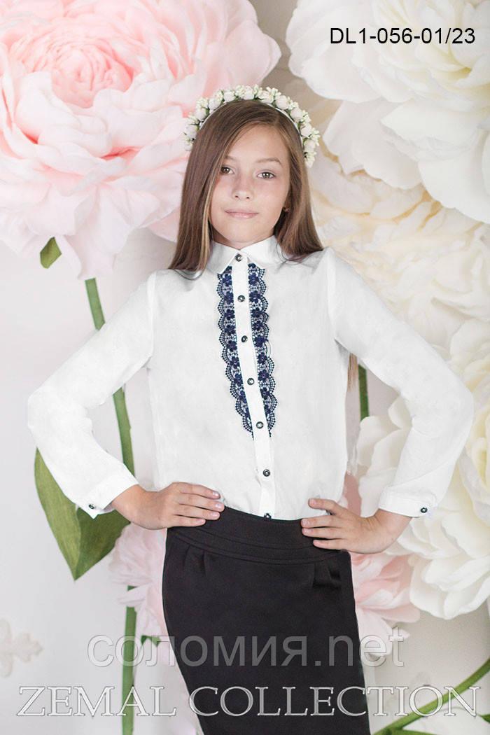 Нарядная белая Блуза  для девочек школьного возраста 128-152р