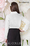 Нарядная белая Блуза  для девочек школьного возраста 128-152р , фото 2