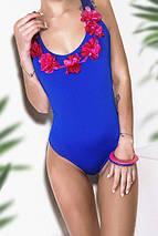"""Цельный женский купальник """"RIBELLE"""" с цветами (4 цвета), фото 3"""
