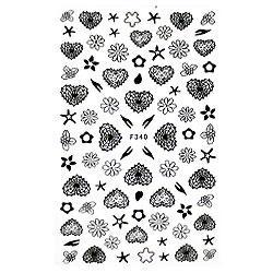 KATTi Наклейки клейкие черные F340 сердца, цветы
