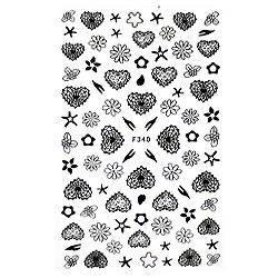 KATTi Наклейки клейкие черные F340 сердца, цветы , фото 2