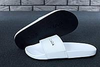 Balenciaga Slippers white/Black, жіночі шльопанці баленсіага, obuwie damskie.