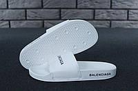 Balenciaga Slippers white/white, жіночі шльопанці баленсіага, obuwie damskie.