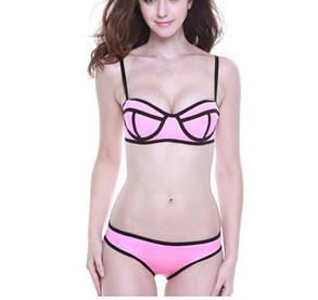 Стильный розовый купальник Triangl Уценка, фото 2