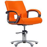 Парикмахерское кресло Milano черный крокодил Оранжевый