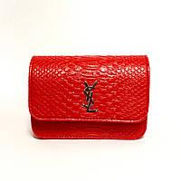 Красная кожаная сумка Лоран