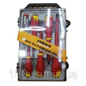 Набор диэлектрических отвёрток FINDER 5 отвёрток+1 индикатор