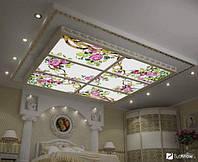 Варианты витражных потолков с подсветкой