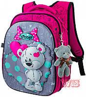 Рюкзак для девочек с мишкой  8003