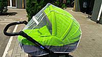 Универсальная москитная сетка на любую коляску с замком