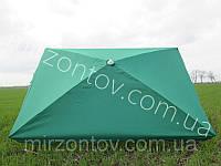 Зонт торговый  2х3 м с серебряным напылением прямоугольный  зеленый, синий, красный, фото 1