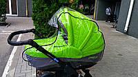 Универсальный силиконовый дождевик на коляску (люльку)