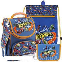 Рюкзак ортопедический каркасный Kite HW18-500S Hot Wheells Комплект 3 в 1
