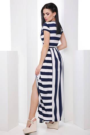 Длинное женское платье в полоску, фото 2