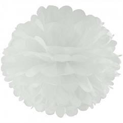 Декор бумажные помпоны (белый) 40 см
