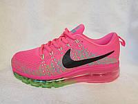 Женские кроссовки Nike air max flyknit розовые, фото 1