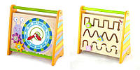 Деревянная игрушка Часы с лабиринтом