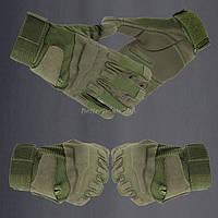 Тактические перчатки дышащие с защитными вставками BlackHawk Олива