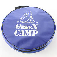 Ведро туристическое GreenCamp, 11л складное, синий.