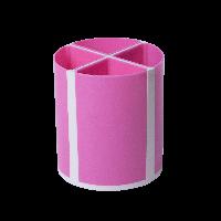 Подставка для пишущих принадлежностей ТВИСТЕР розовая, 4 отделения