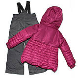 Зимний костюм для девочки PELUCHE F17M50EF Framboise / Smokey Grey. Размеры 96 - 134., фото 2