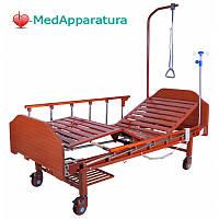 Кровать медицинская электрическая (2 функции) с полкой и накроватным столиком DB-7 MM-077Н