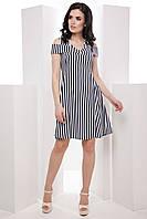 Нежное женское платье со спущенными плечами и пышной юбкой 7046/1, фото 1