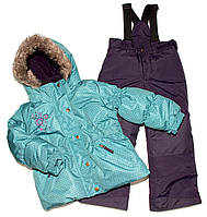 Зимний костюм для девочки PELUCHE F17 M 52 EF New Reef / Grape. Размеры 96 - 128., фото 1
