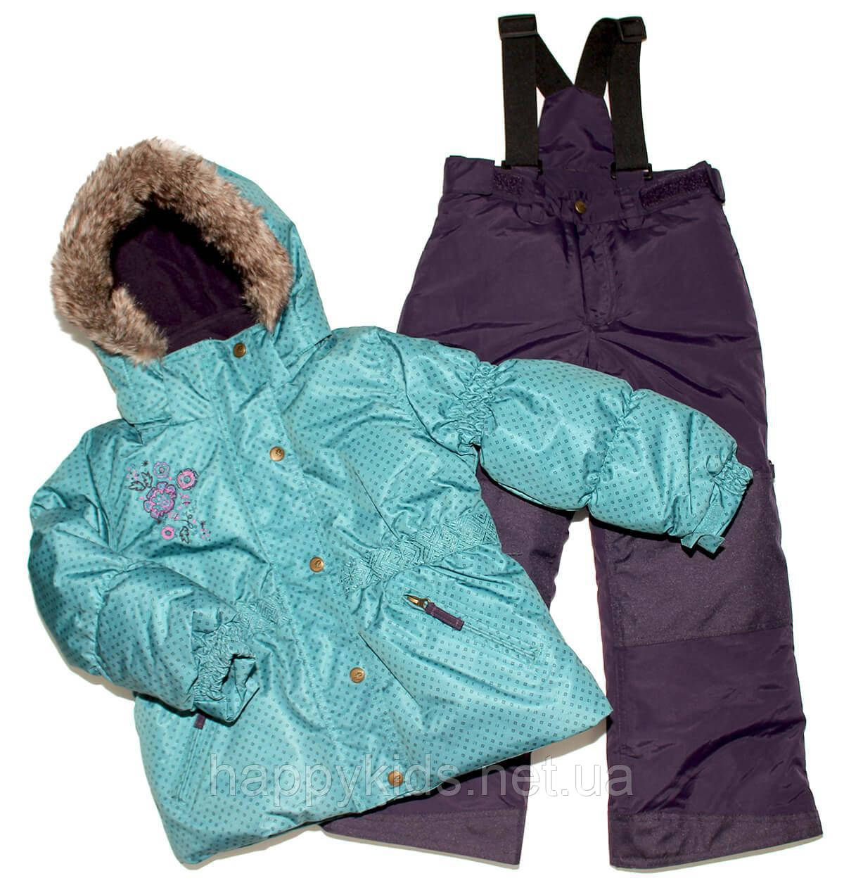 Зимний костюм для девочки PELUCHE F17 M 52 EF New Reef / Grape. Размеры 96 - 128.