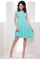 Нежное женское платье со спущенными плечами и пышной юбкой 7046/2, фото 1