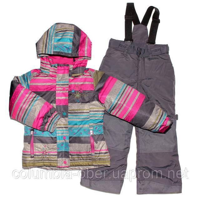 Зимний костюм для девочки PELUCHE F17 M 72 EF Amethyste / Smokey Grey. Размеры 104 - 128.